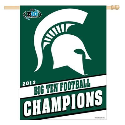 Michigan State Spartans 2013 Big Ten Football Champions Vertical Banner