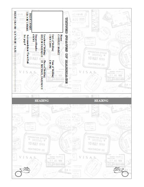 Passport Invitation Template - Pre-Designed