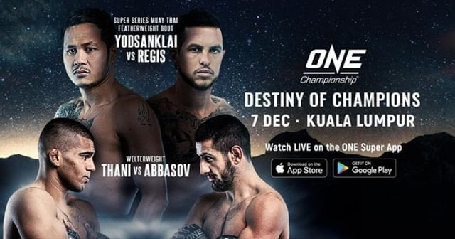 It S Fight Day Mma Fans One Destiny Of Champions Goes Down Tonight Check Out The Main Card Now Yodsanklai Iwe Fairtex Vs One Championship Destiny Mma