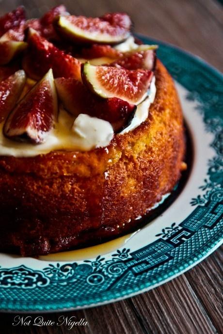Luscious Fig & Yogurt Almond Cake
