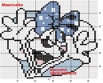 Diddlina - Diddl perler bead pattern by Mauricette