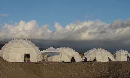 Portable Dome Shelters : Portable geodesic yurts that are lightweight and leakproof