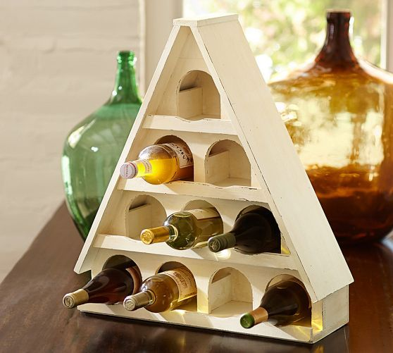 428 best images about for the home on pinterest shelves for Pottery barn wine rack wood