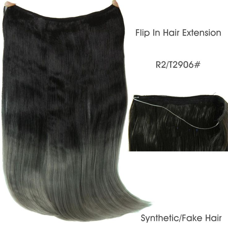 """22"""" 55cm 110g Flip In Invisible Hair Extension Fish Line Halo Hair Extension Hairpiece Heat Resistant Synthetic Fake Hair piece"""