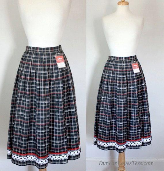 80s Knife Pleated Bavarian Style Skirt by DuncanLovesTess on Etsy