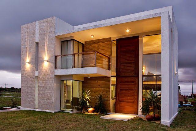 Fachadas de casas com madeiramaravilhosos!
