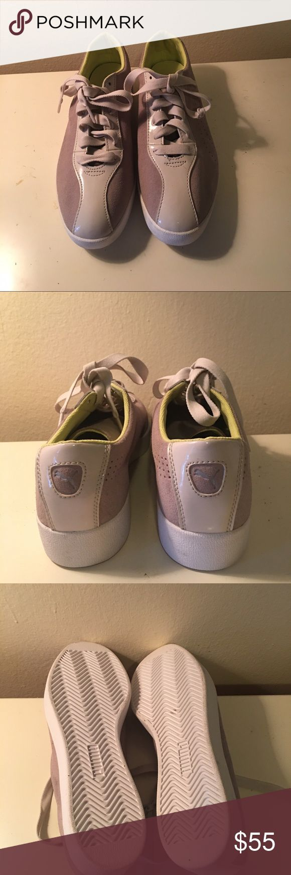 Puma sport lifestyle sneakers New, never worn, light grey suede shoes. Puma Shoes Athletic Shoes