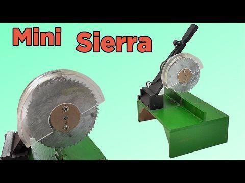 Cómo Hacer una Mini Sierra de Mesa Casera (Muy fácil de hacer) - YouTube