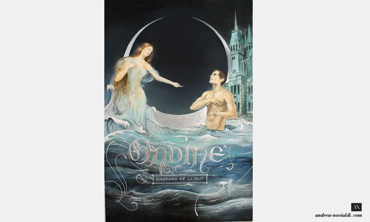 Gaspard de la Nuit Watercolor Illustration - Ondine