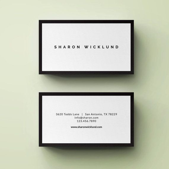 Premade Business Card Template Simple Elegant Business