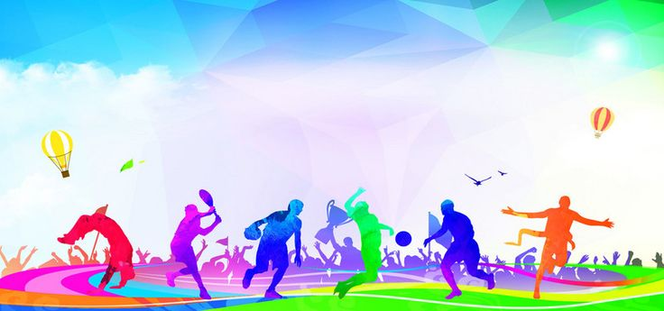 Sport Wallpaper Hd Android: Outdoor Sports Passion Carnival Flat Sub Colorful Banner