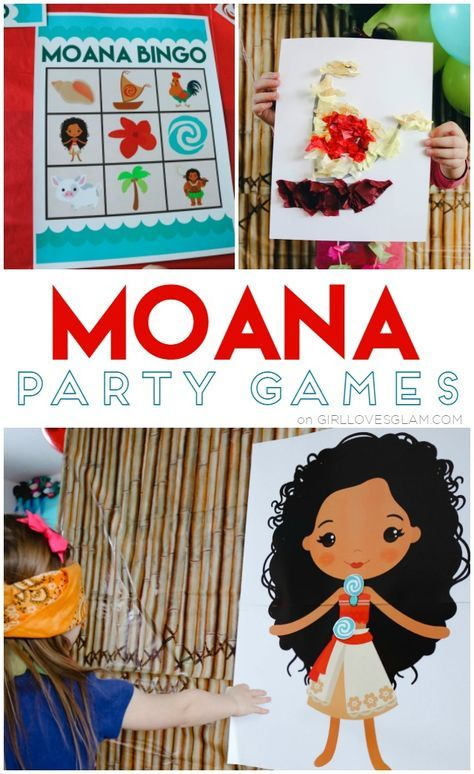 Moana Party Games on www.girllovesglam.com