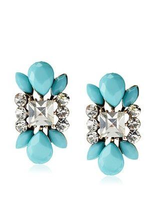 54% OFF Leslie Danzis Turquoise Magnesite Crystal Post Earrings