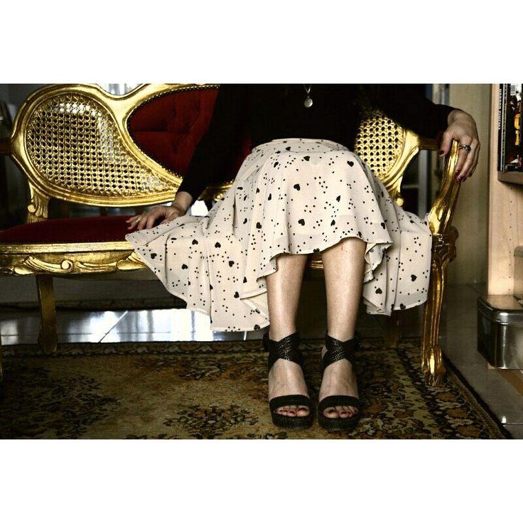 My Heart's Circle skirt♡ www.lemoutonbleu.com