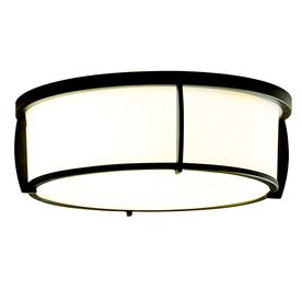 allen + roth 12.91-in W Oil-Rubbed Bronze Ceiling Flush Mount Light