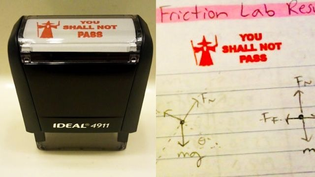 this. is. awesome. (gandalf fail stamp: you shall not pass! good for students and Balrogs)