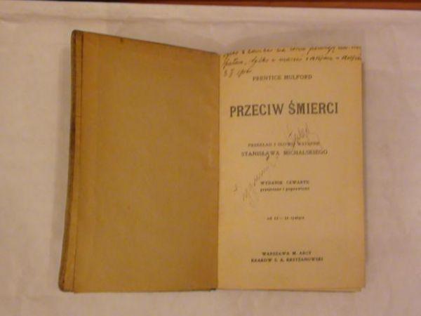 Mulford Prentice - Przeciw śmierci, 1910 r.