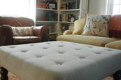 {DIY} Tufted Ottoman for your Home - Oh Lovely Day