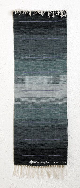 Notes on this piece… Pat hand-dyes her own yarn, allowing for her to achieve the beautiful color variation throughout her weavings. You can see this and other pieces of Pat's here. Enjo…