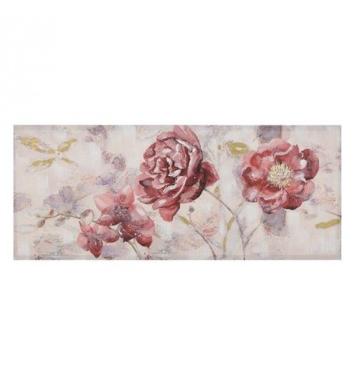 CANVAS OIL PAINTING 'RED FLOWERS' 135X55