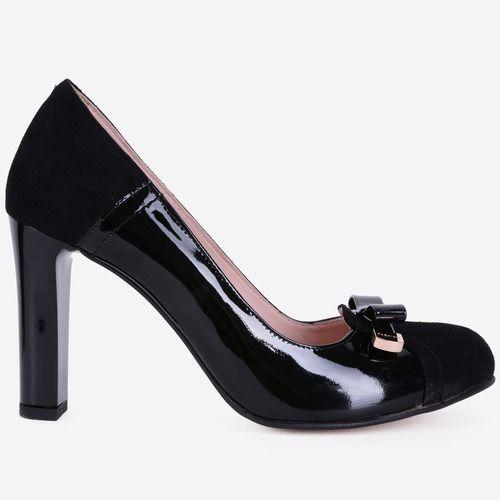 Pantofi din piele naturala negri Angelina