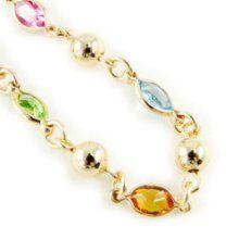 """Gold plated bracelet """"Gouttes De Fées"""" tutti frutti. from Les Trésors De Lily at the Giftopia Shop"""