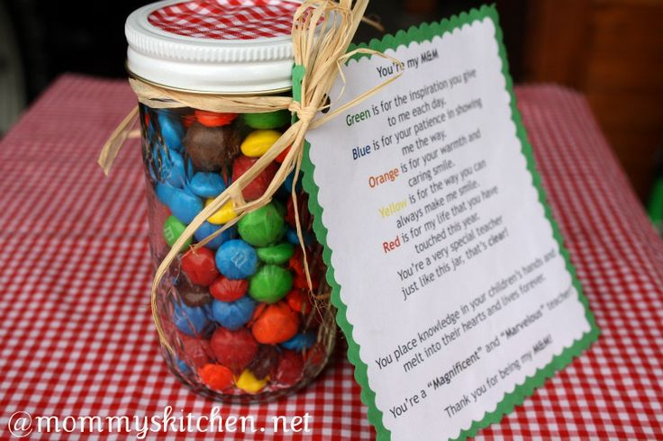 You're my M&M Goodie Jar + More Teacher Appreciation Gift ...