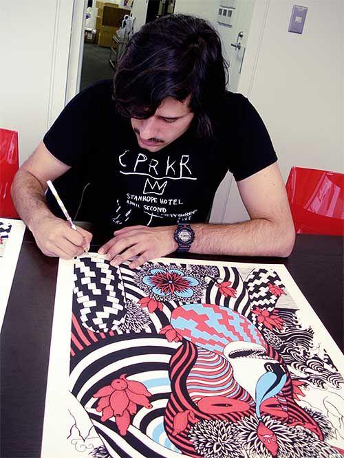 The Master at work...   Source :  www.booooooom.com