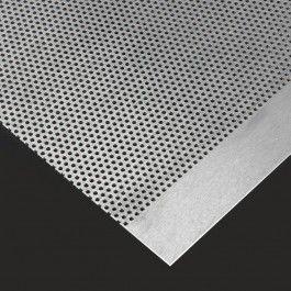 PLANCHA DE ALUMINIO PERFORADO Láminas de aluminio de distintos acabados decorativos o lisos excelentes para el revestimiento de paredes, suelos e incluso muebles. Según el brillo, puede utilizarse como material reflectante. #PlanchaAluminioPerforado #PerforatedAluminiumSheet