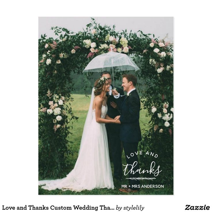 Love and Thanks Custom Wedding Thank You