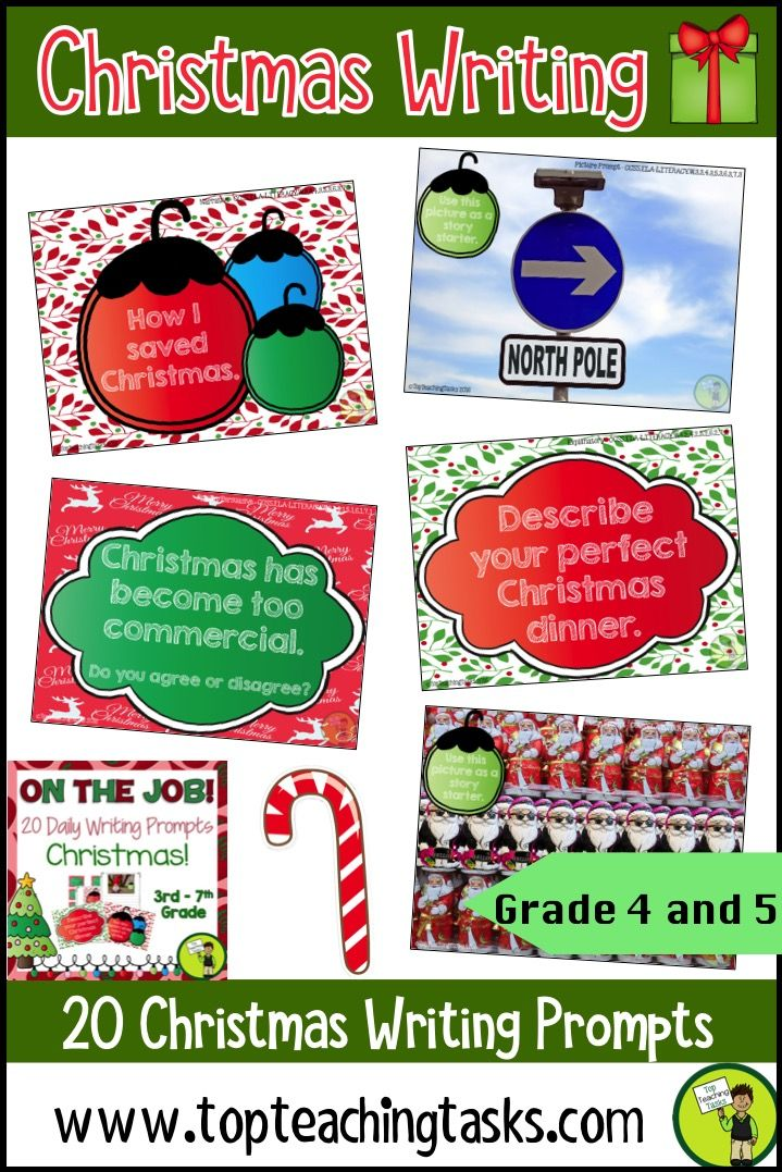 Great set of Christmas writing prompts! 8 fun writing prompts each for Opinion, Informational, & Narrative writing. This is a great way to tie in some Christmas fun without losing valuable teaching time in your classroom! Great for grade 3, grade 4, grade 5, grade 6, and grade 7 students. Linked to the CCSS. #Christmas