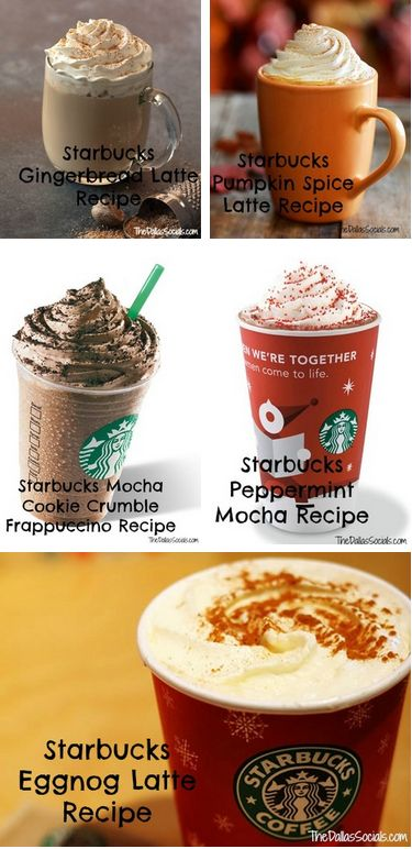 Starbucks Holiday Copy Cat Drinks