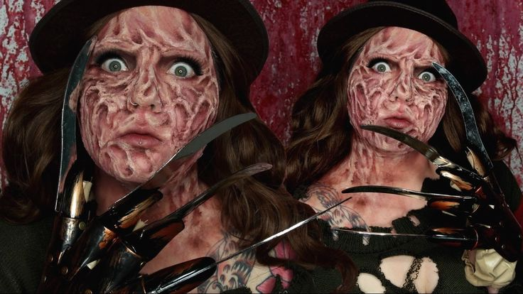 Freddy Krueger Halloween Makeup Tutorial by Jordan Hanz #HalloweenMakeupIdea #NightmareonElmStreet #SpecialFX