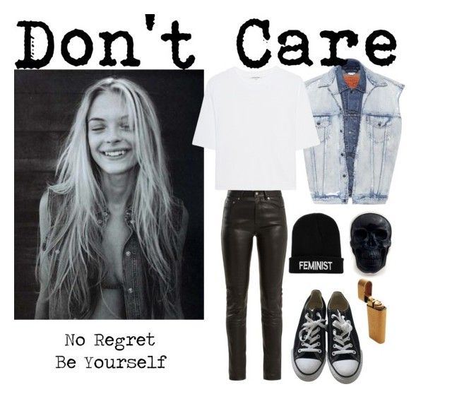 Jaime King Dont care by bored-and-broken-madlen on Polyvore featuring Cotton Citizen, Vetements, Yves Saint Laurent, Converse and Boohoo