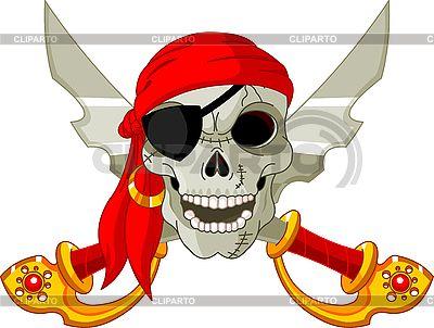 Пиратский череп | Векторный клипарт | ID 3187357