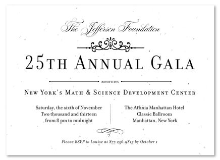 52 best Business Invitations and Seeded Paper Gala Invitations - Formal Business Invitation