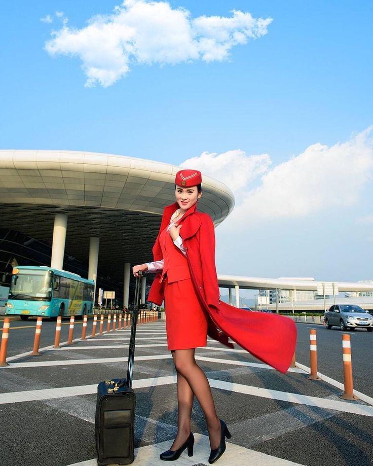 Shenzhen airline hostess pleasuring 9