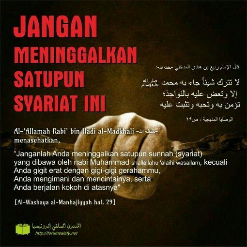 Jangan meninggalkan satupun syariat ini !