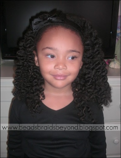 Chunky two strand twist out.