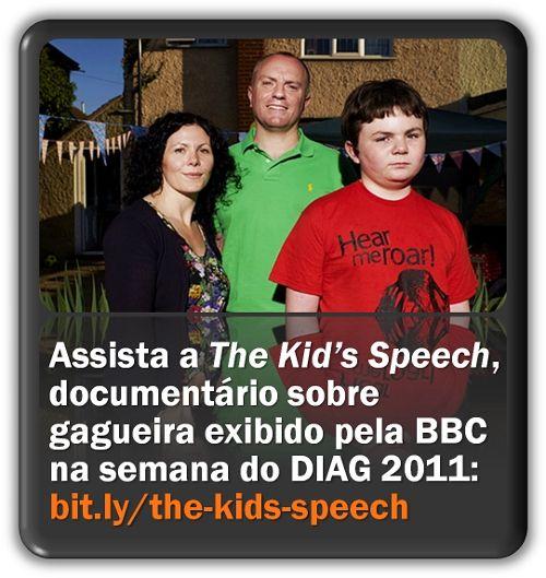 """Primeira parte de """"The Kid's Speech"""" (O Discurso da Criança), documentário da BBC sobre gagueira na infância."""