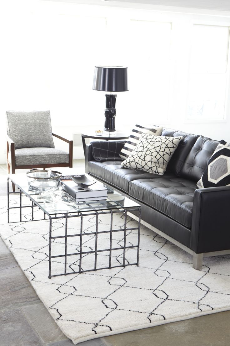 Pinned Only To Show A Darker Couch W Lighter Rug And Contrasting Pillows  [our Ethan