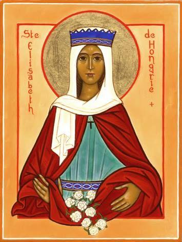 Szent Erzsébet, virágokkal (Hungarian saints)