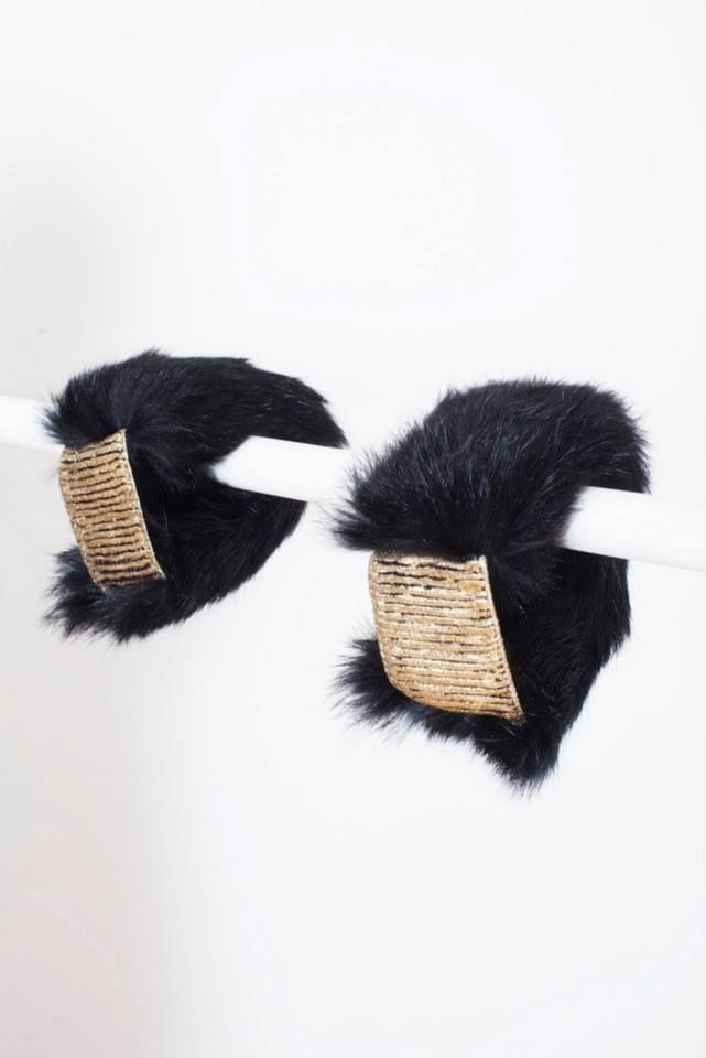 BLACK RABBIT FUR CUFFS // © MORECCO 2014