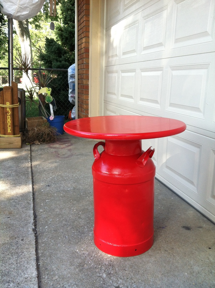 17 best ideas about milk can table on pinterest milk can for Milk can table ideas