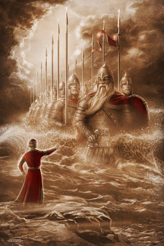 Slavic mythology by Igor Ozhiganov. 33 knights. The Tale of Tsar Saltan, of His Son the Renowned and Mighty Bogatyr Prince Gvidon Saltanovich, and of the Beautiful Princess-Swan (Russian: Сказка о царе Салтане, о сыне его славном и могучем богатыре князе Гвидоне Салтановиче и о прекрасной царевне Лебеди) is an 1831 poem by Aleksandr Pushkin that was published in a book of Russian fairy tales...A bogatyr or vityaz is a stock character in medieval EastSlavic legends,akin to aEuropean…