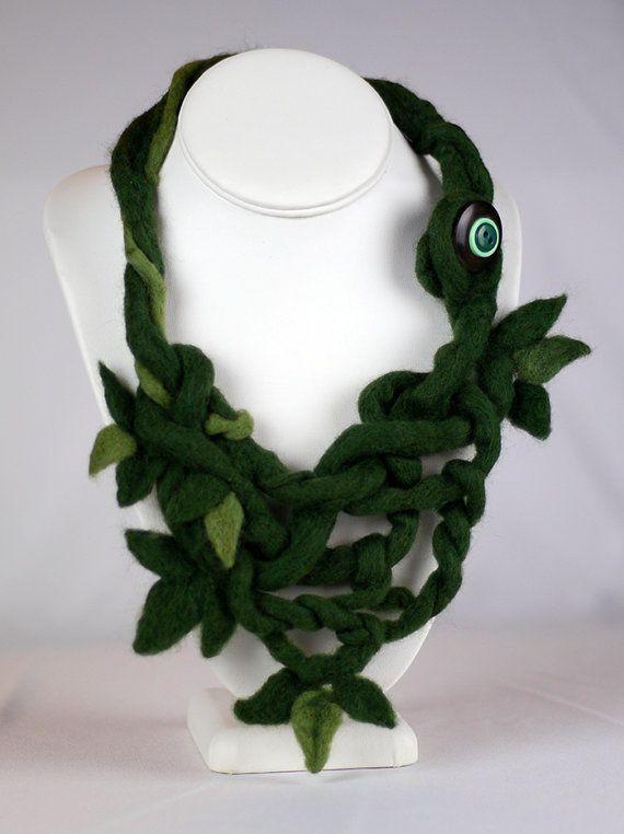 Briar Bush Knotted Felt Necklace $56 by CorbeauxPDX on Etsy