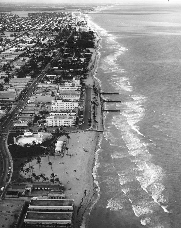 An aerial view of Miami Beach (1965). | Florida Memory