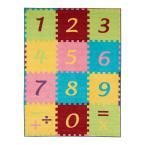 Children Garden's Collection Multi Color Numbers Math Design 8 ft. 2 in. x 9 ft. 10 in. Non-Slip Kids Area Rug