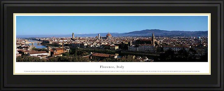 Florence, Italy Skyline Picture - Panoramic Picture $199.95