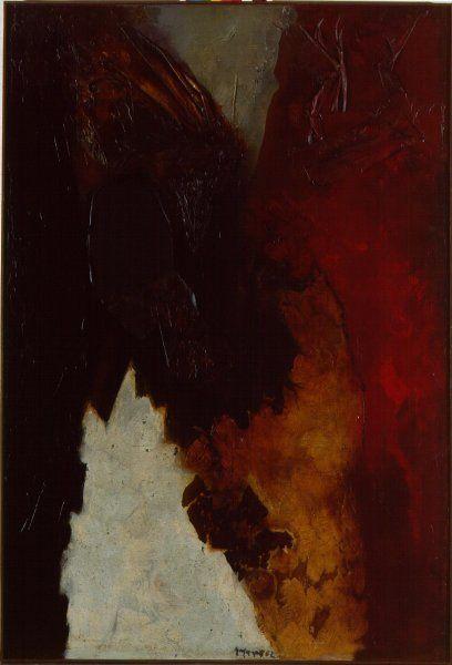 Collage by Josep Guinovart. 1962. 250 x 170,5 cm